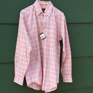 NWT Bobby Jones Mandarin Dress Shirt S 15-15.5